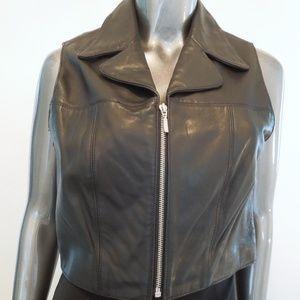 BB Dakota Jackets & Coats - B B Dakota Black Leather Vest Medium